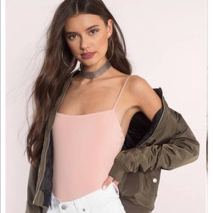 TOBI Nude Blush Cami Basic Tank Bodysuit Small